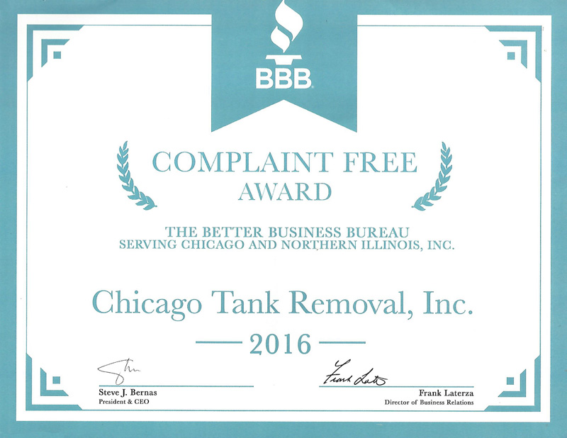 BBB No Complaints Award